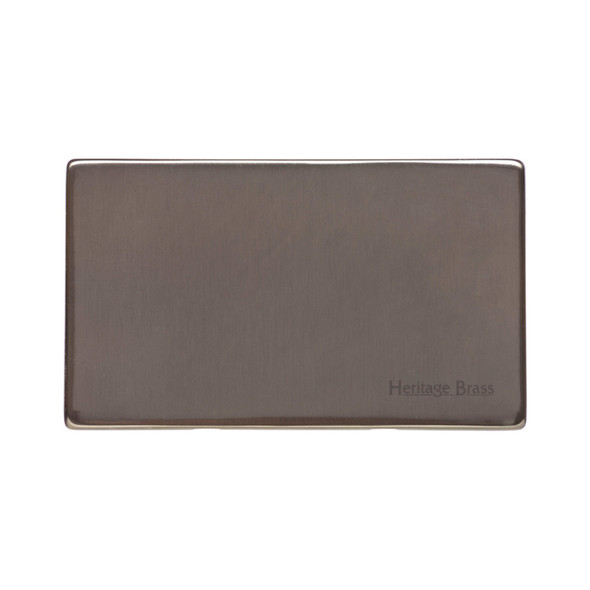 Studio Range Double Blank Plate in Polished Bronze - Y07.232
