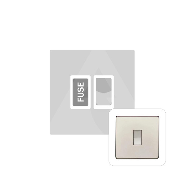 Studio Range Switched Spur (13 Amp) in Polished Nickel - White Trim - Y08.235.PNW
