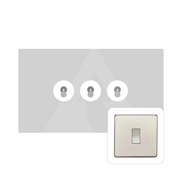 Studio Range 3 Gang Dolly Switch in Polished Nickel - Trimless - Y08.2420.PN