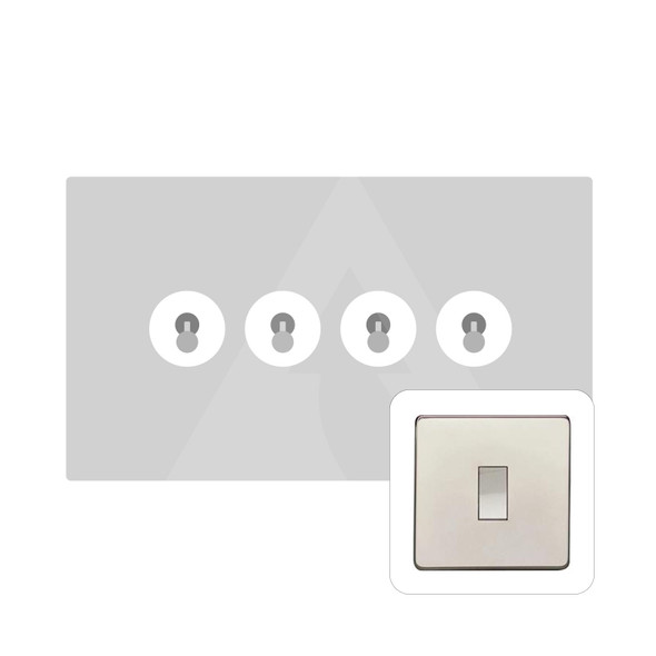 Studio Range 4 Gang Dolly Switch in Polished Nickel - Trimless - Y08.2430.PN