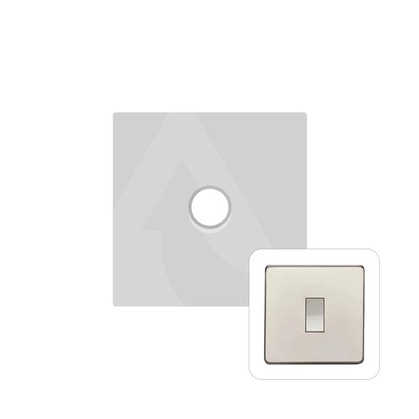 Studio Range 1 Gang Trailing Edge Dimmer in Polished Nickel - Trimless - Y08.260.TED