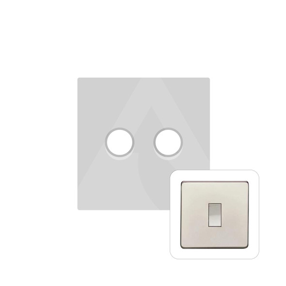 Studio Range 2 Gang Trailing Edge Dimmer in Polished Nickel - Trimless - Y08.270.TED