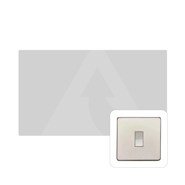 Studio Range Double Blank Plate in Polished Nickel - Y08.232