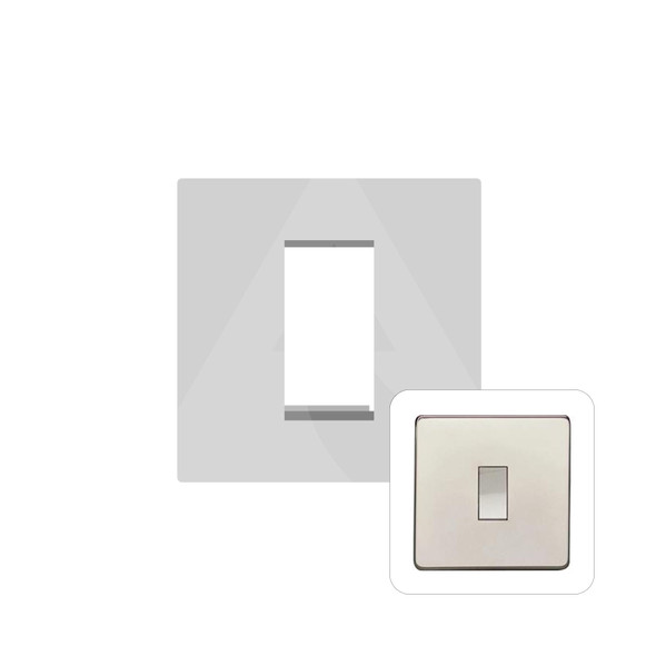 Studio Range 1 Module Euro Plate in Polished Nickel - PL.Y08.2691.G
