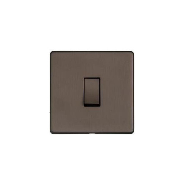 Studio Range 1 Gang Intermediate Switch (10 Amp) in Matt Bronze - Trimless - Y09.201.DBZ