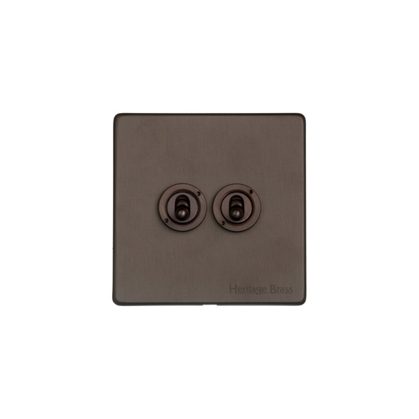 Studio Range 2 Gang Dolly Switch in Matt Bronze - Trimless - Y09.2410.DBZ
