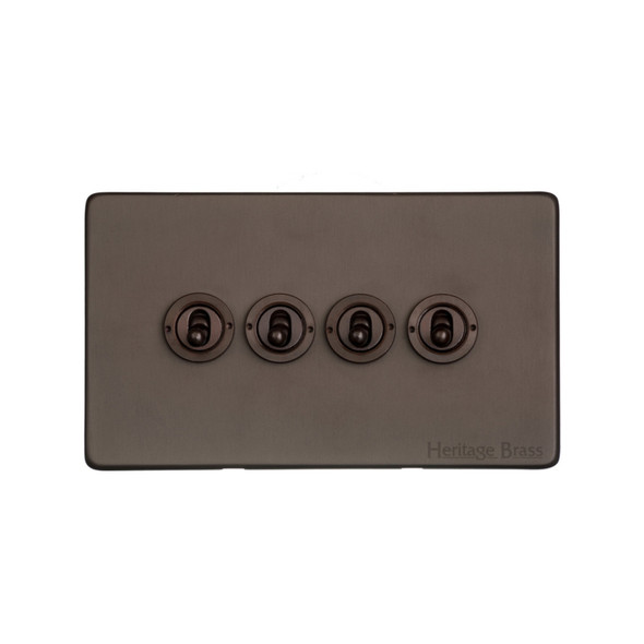 Studio Range 4 Gang Dolly Switch in Matt Bronze - Trimless - Y09.2430.DBZ