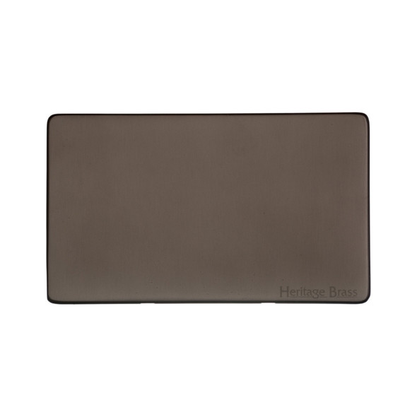 Studio Range Double Blank Plate in Matt Bronze - Y09.232