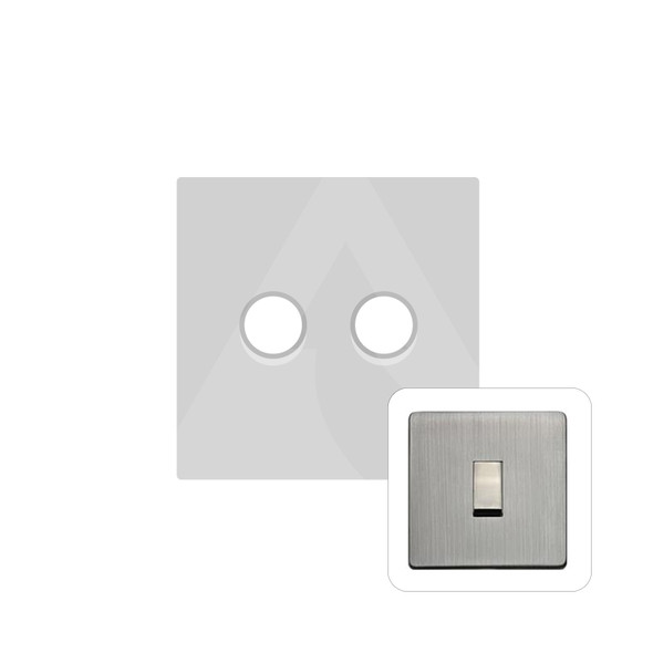 Studio Range 2 Gang Trailing Edge Dimmer in Antique Pewter - Trimless - Y96.270.TED