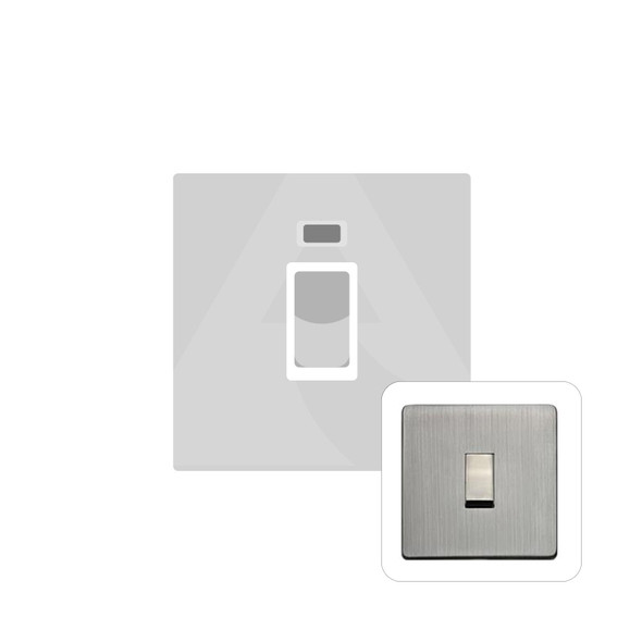 Studio Range 45A Switch with Neon (single plate) in Antique Pewter - Trimless - Y96.263.PT