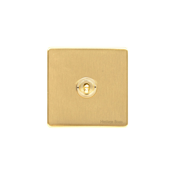 Studio Range 1 Gang Dolly Switch in Satin Brass - Trimless - Y44.2400.SB