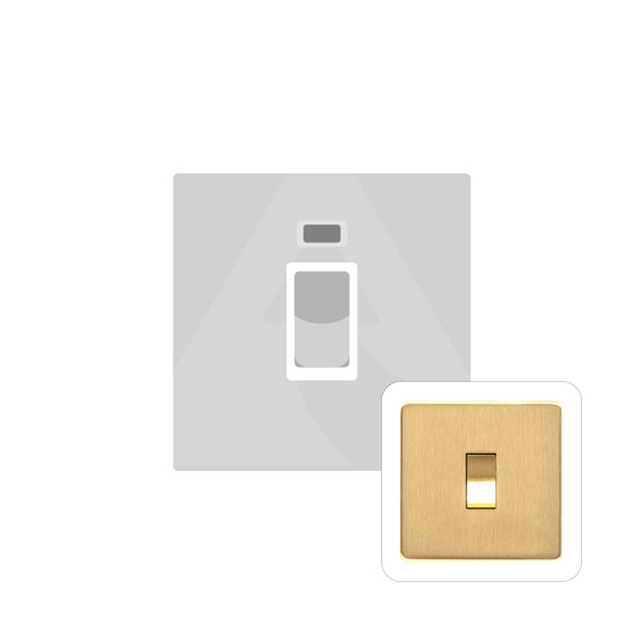 Studio Range 45A Switch with Neon (single plate) in Satin Brass - Trimless - Y44.263.SB
