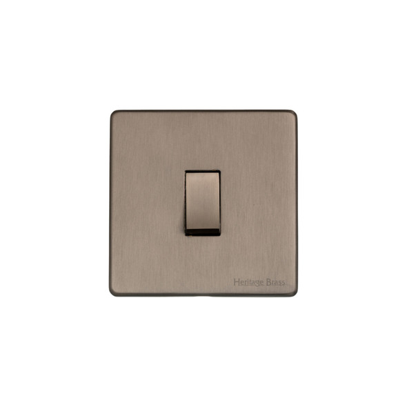Studio Range 1 Gang Switch (10 Amp) in Aged Pewter - Trimless - YAP.200.AP