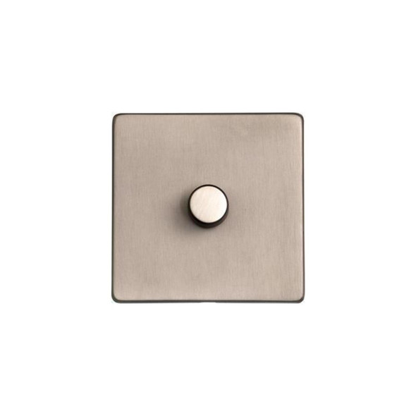 Studio Range 1 Gang Trailing Edge Dimmer in Aged Pewter - Trimless - YAP.260.TED