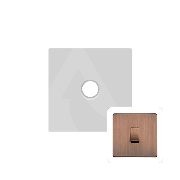 Studio Range 1 Gang Trailing Edge Dimmer in Antique Copper - Trimless - Y97.260.TED