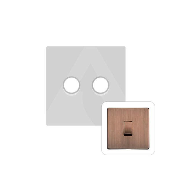 Studio Range 2 Gang Trailing Edge Dimmer in Antique Copper - Trimless - Y97.270.TED