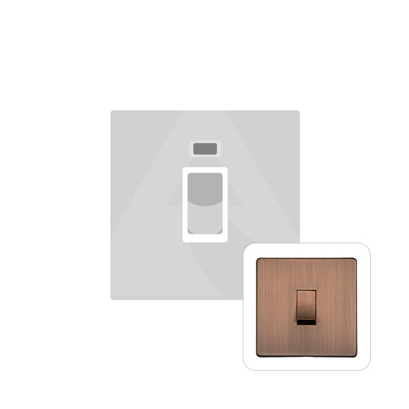 Studio Range 45A Switch with Neon (single plate) in Antique Copper - Trimless - Y97.263.AC