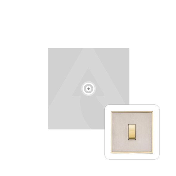 Executive Range 1 Gang Non-Isolated TV Coaxial Socket in Satin Nickel - White Trim - EX15.610.W
