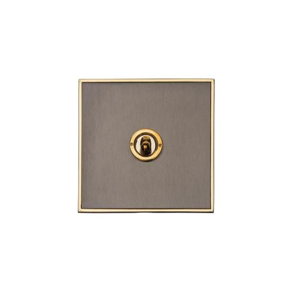 Executive Range 1 Gang Dolly Switch in Polished Black Nickel - Trimless - EX16.2400.PB