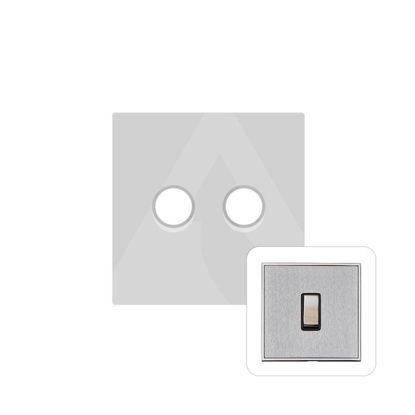 Executive Range 2 Gang Trailing Edge Dimmer in Satin Chrome - Trimless - EX23.570.TED