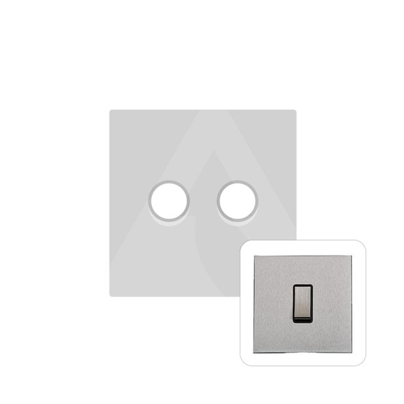 Winchester Range 2 Gang Trailing Edge Dimmer in Satin Chrome - Trimless - W03.570.TED