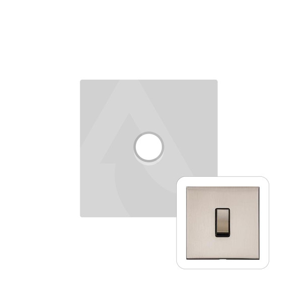 Winchester Range 1 Gang Trailing Edge Dimmer in Satin Nickel - Trimless - W05.560.TED