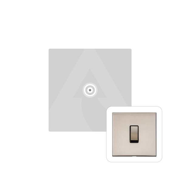 Winchester Range 1 Gang Non-Isolated TV Coaxial Socket in Satin Nickel - White Trim - W05.610.W