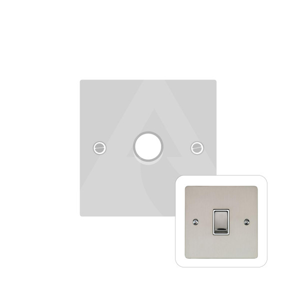 Elite Flat Plate Range 1 Gang Trailing Edge Dimmer in Satin Nickel - Trimless - T05.971.TED