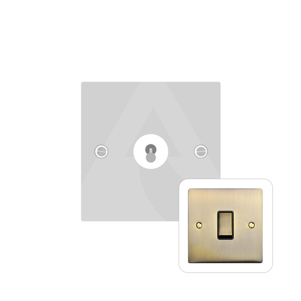 Elite Flat Plate Range 1 Gang Intermediate Dolly Switch in Antique Brass - Trimless - T91.1401.AB