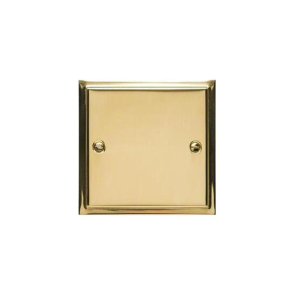 Elite Stepped Plate Range Single Blank Plate in Polished Brass - S01.931