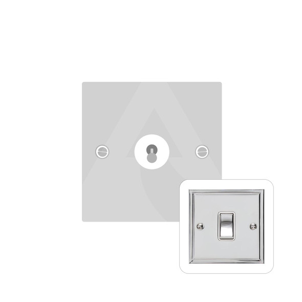 Elite Stepped Plate Range 1 Gang Dolly Switch in Polished Chrome - Trimless - S02.1400.PC