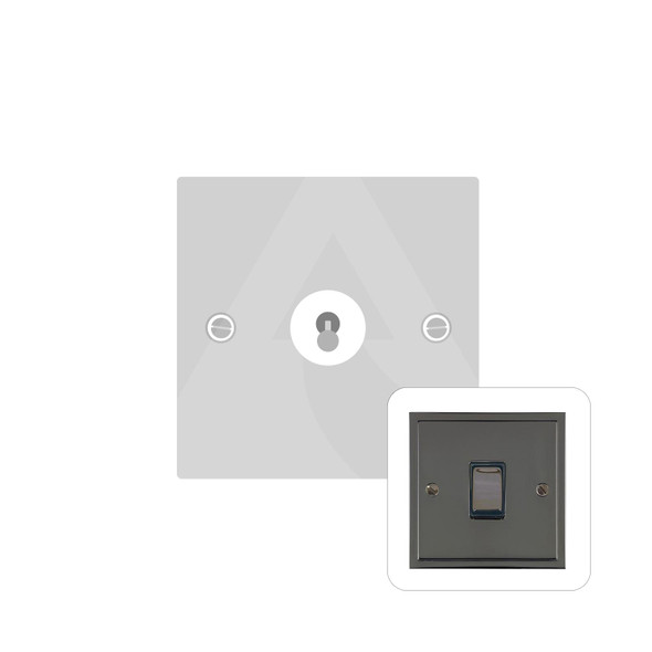 Elite Stepped Plate Range 1 Gang Dolly Switch in Polished Black Nickel - Trimless - S06.1400.BN