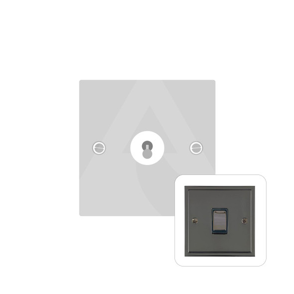 Elite Stepped Plate Range 1 Gang Intermediate Dolly Switch in Polished Black Nickel - Trimless - S06.1401.BN
