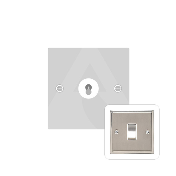 Elite Stepped Plate Range 1 Gang Dolly Switch in Satin Nickel - Trimless - S05.1400.SN