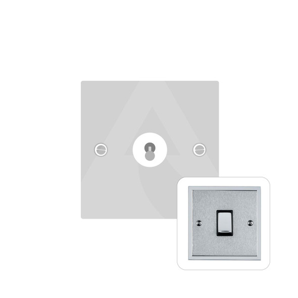 Elite Stepped Plate Range 1 Gang Dolly Switch in Satin Chrome - Trimless - S03.1400.PC