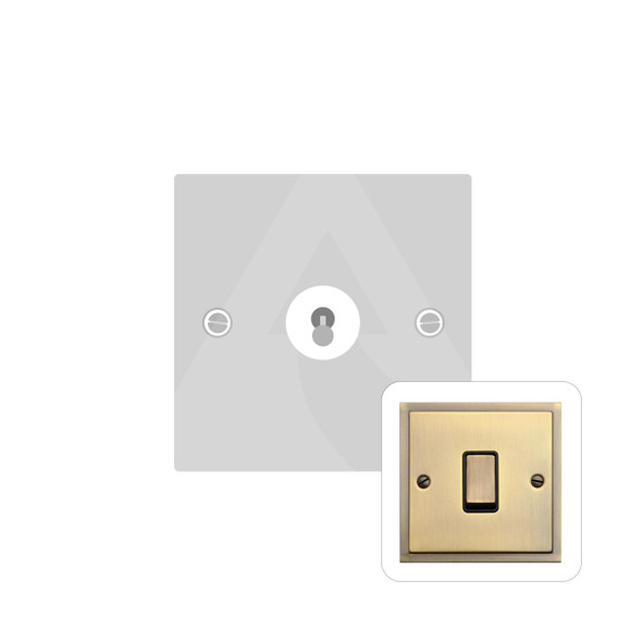 Elite Stepped Plate Range 1 Gang Dolly Switch in Antique Brass - Trimless - S91.1400.AB