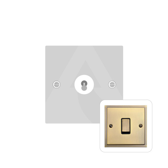 Elite Stepped Plate Range 1 Gang Intermediate Dolly Switch in Antique Brass - Trimless - S91.1401.AB