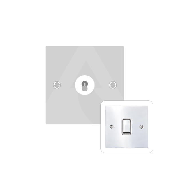 Bauhaus Range 1 Gang Intermediate Dolly Switch in Polished Chrome - Trimless - BH2.1401.PC