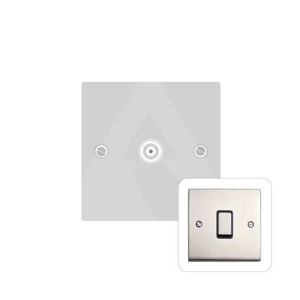 Victorian Elite Range 1 Gang Non-Isolated TV Coaxial Socket in Satin Nickel - White Trim - R01.821.W