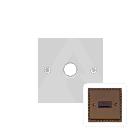 Contractor Range 1 Gang Trailing Edge Dimmer in Polished Bronze - Trimless - BZG971/TED