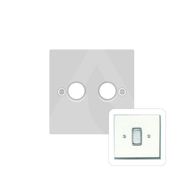 Contractor Range 2 Gang Trailing Edge Dimmer in Polished Chrome - Trimless - CR972/TED