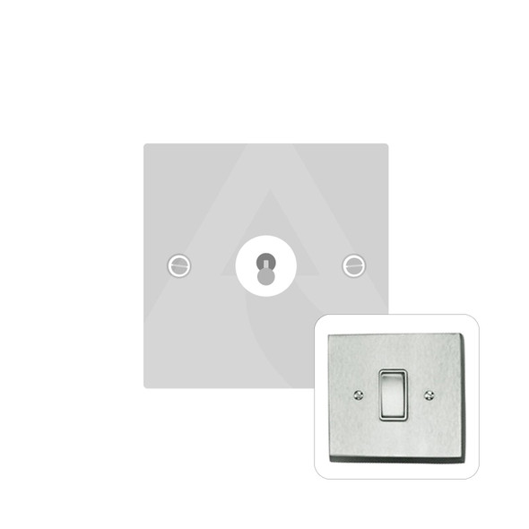 Harmony Grid Range 1 Gang Dolly Switch in Satin Chrome - Trimless - BC1400SC