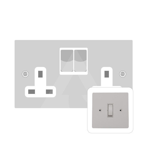 Primed White (Paintable) Range Double Socket (13 Amp) in Primed White - White Trim - PW.550.W