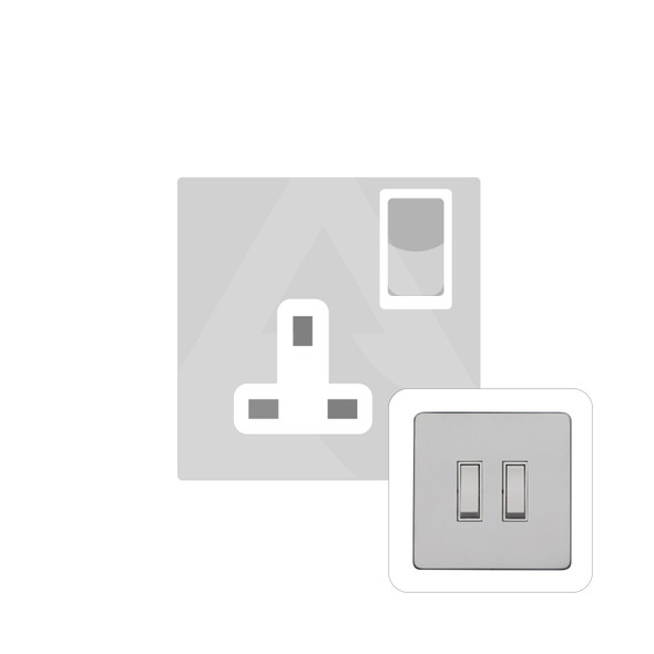 Primed White (Paintable) Range Single Socket (13 Amp) in Primed White - White Trim - YPW.540.W