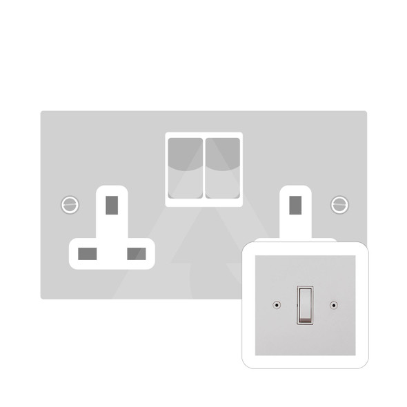 Primed White (Paintable) Range Double Socket (13 Amp) in Primed White - White Trim - QPW.550.W
