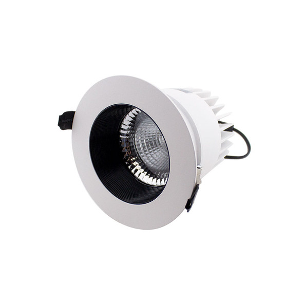 30W Dimmable Recessed LED Downlight 4000K IP40 in Matt White