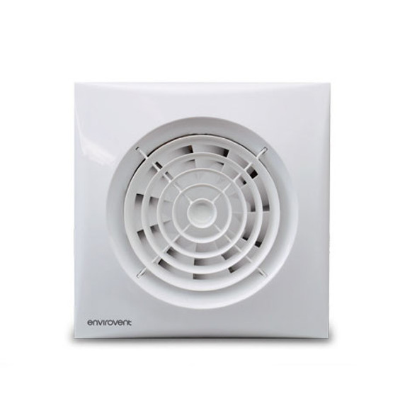 Silent 100HT Extractor Fan in White Finish