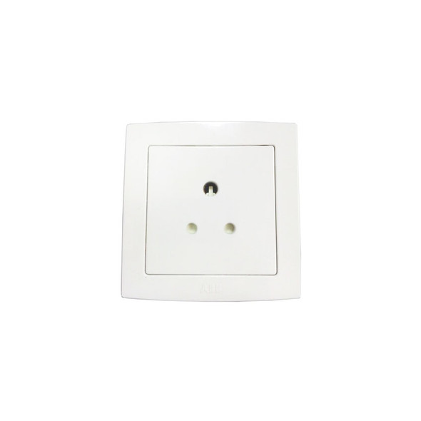Concept BS 5 Amp Round Pin Socket in White Finish
