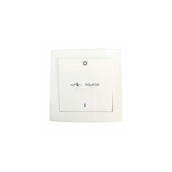 Concept BS 3 Pole 10Amp Fan Isolator Switch in White Finish