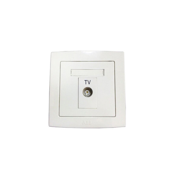 Concept BS 1 Gang TV Outlet Socket in White Finish